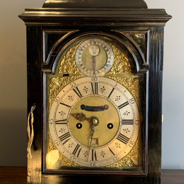 A Very Rare George II Penny Moon Pull Quarter Repeat Bracket Clock By G Somersall C1750