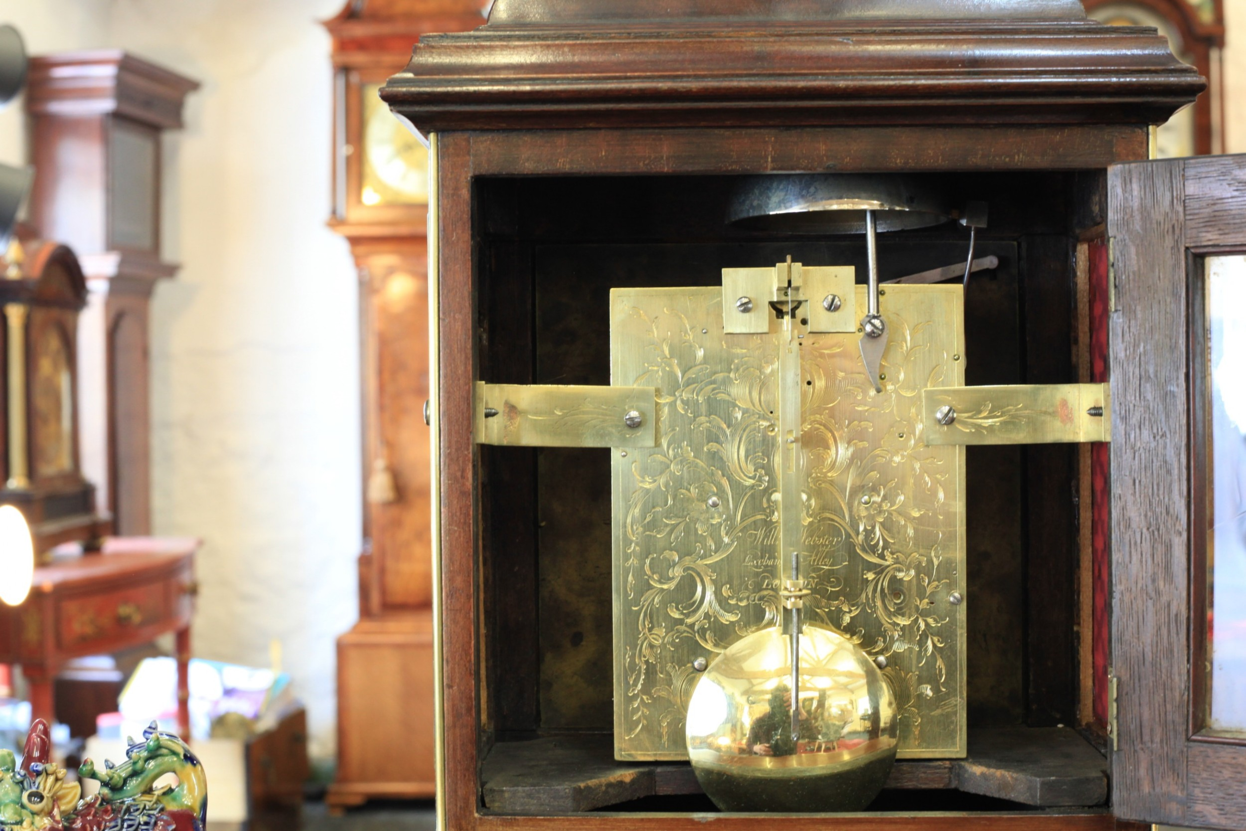 A Rare George III Mahogany Bracket Clock By William Webster C1770