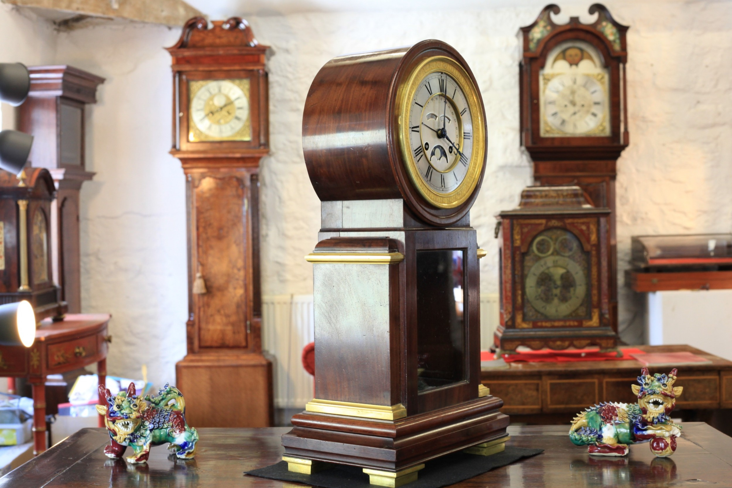 A Fine Full Perpetual Calendar Clock With Leap Year Adjustment