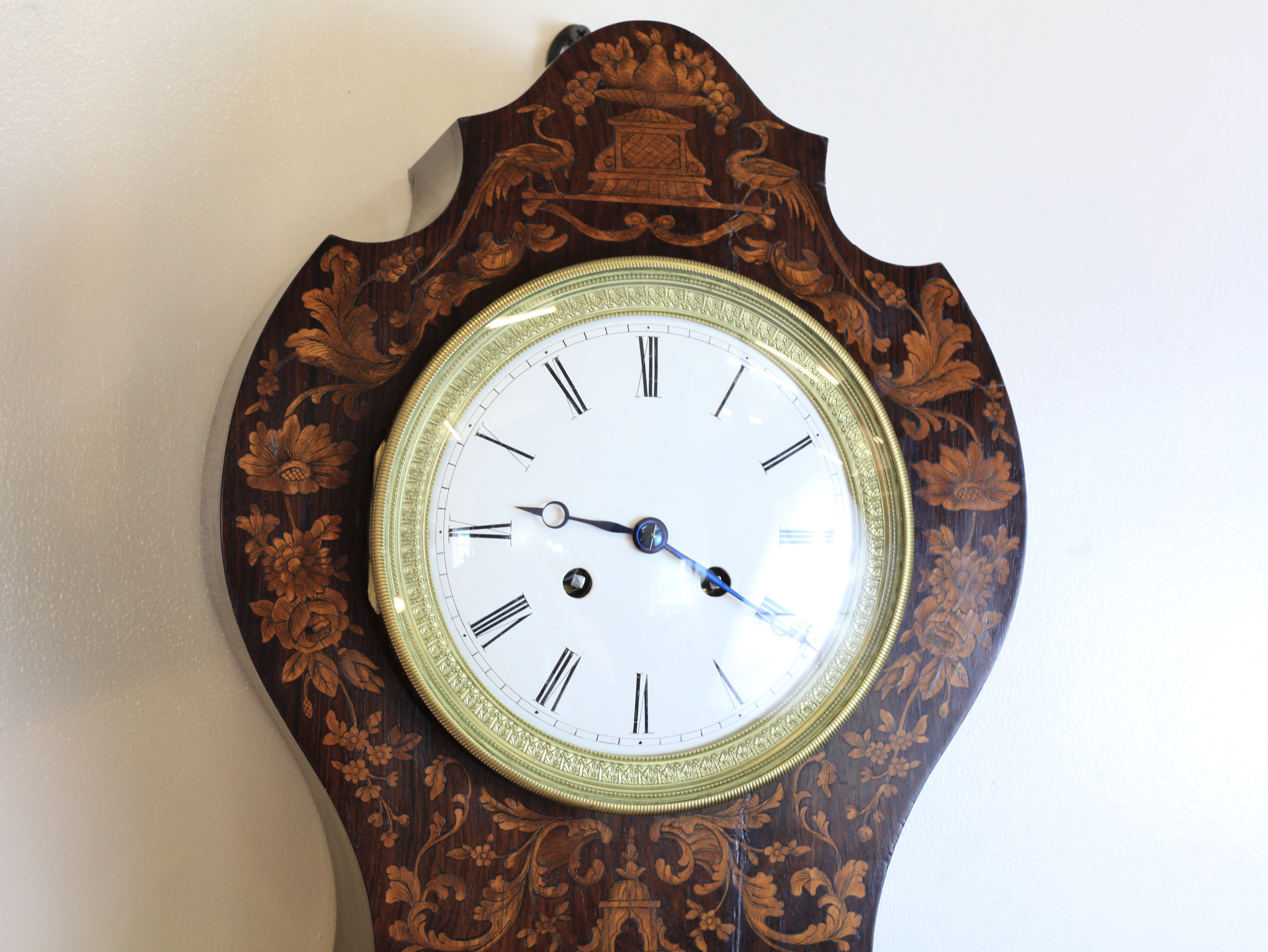 A 19th Century Parquetry French Wall Clock