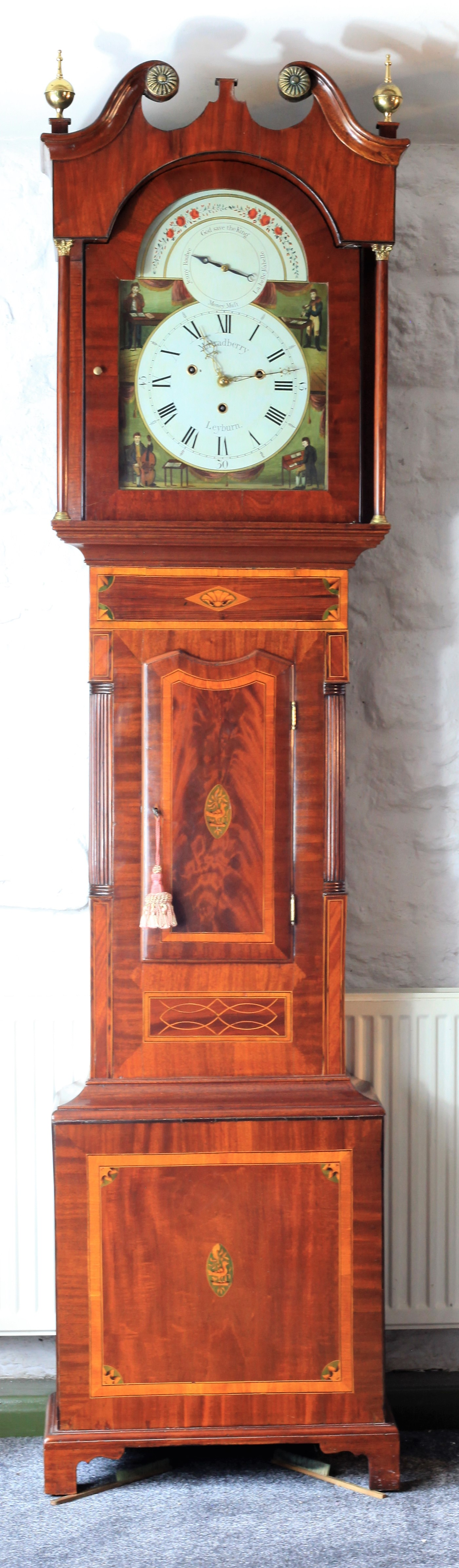 An Auto Changing Four Tune Musical Longcase Clock By Bradberry of Leyburn